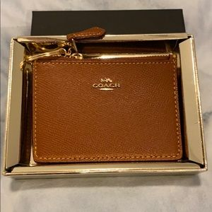 Coach ID Card holder with keychain in Brown